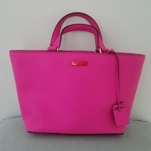 Kate Spade Juno Grant St Snapdragon Hot Pink Tote